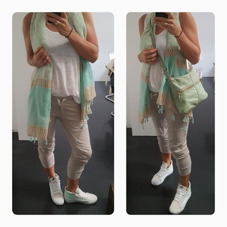 Sincerely Jules Lux Joggers & Vans Sneakers - love the mint/cream/white colour combo 😍