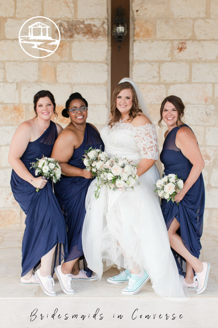 Poetry hall bridesmaid converse long bridesmaid dresses and hall how fun are these bridesmaids in formal long bridesmaid dresses and converse as shoes ombrellifo Images