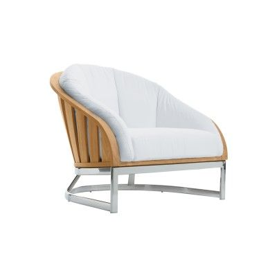 Picket Lounge Chair With Seat And Back Cushions And Stainless Steel Base from Summit Furniture.