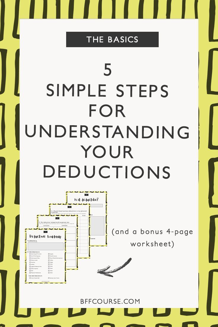 5 Simple Steps For Understanding Your Tax Deductions