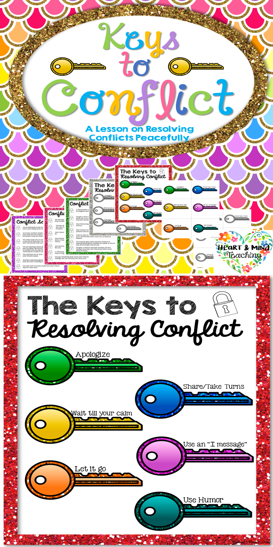Keys To Conflict Activity Lesson On Conflict Resolution