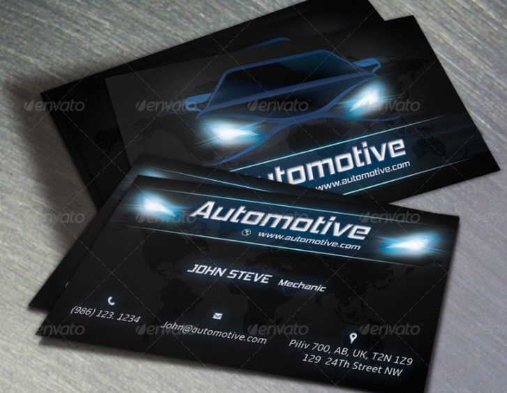 20 Automotive Business Card Template Psd Indesign Format