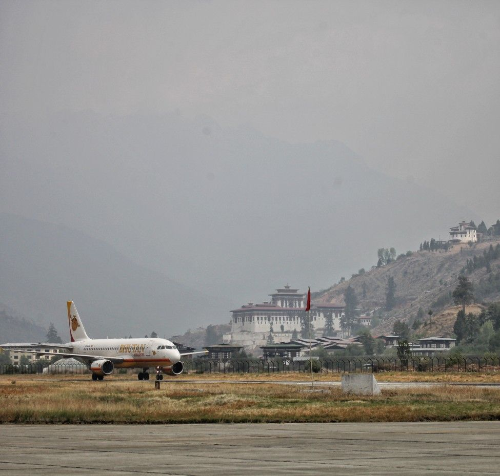 If You Are Flying To Paro The Only In International Airport In Bhutan You May Want To Take A Window Seat On The Left You Will Get A Go Nice View