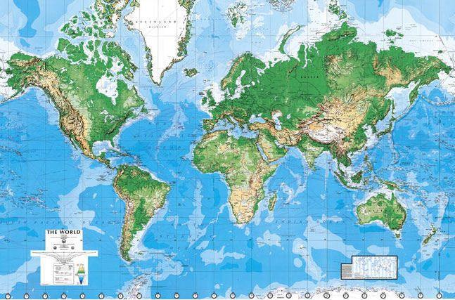 Physische Weltkarte Als Tapete Weltkarte Wand Weltkarte