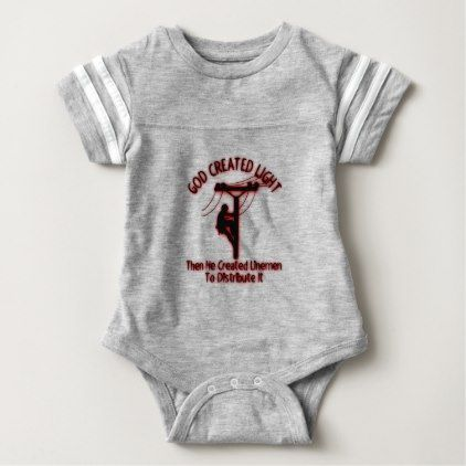 LINEMAN BODY SUIT PERSONALISED DADDYS LITTLE BABY GROW GIFT