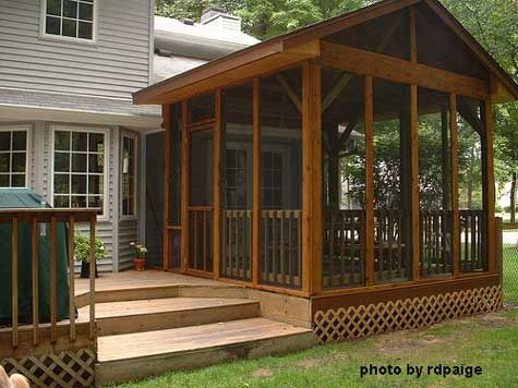 Build A Screened Porch To Let The Outside In Design