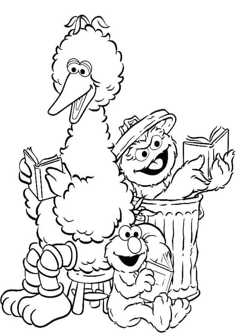 Sesame Street Coloring Pages Sesame street coloring