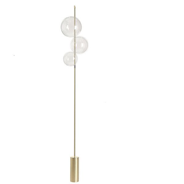 Silvio Mondino Studio Grandine Three Light Floor Lamp 1 660 Liked On Polyvore Featuring Home Lighting Three Light Floor Lamp Sphere Lamp Light Bulb Lamp