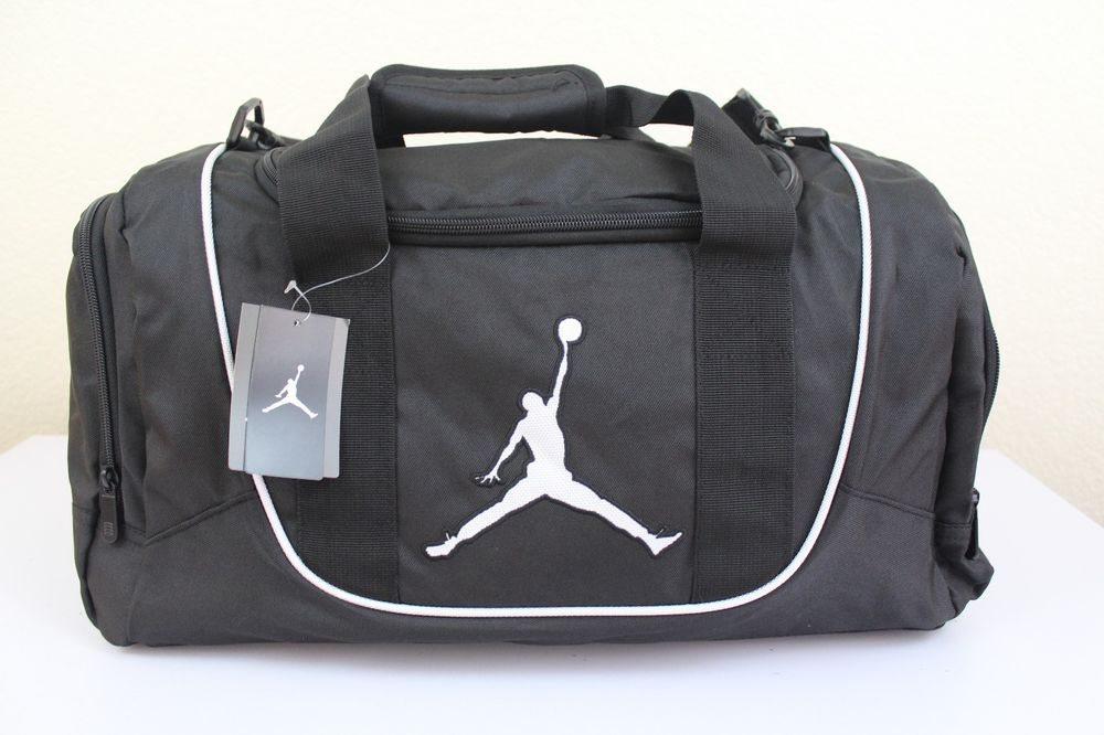 Nike jordan jump man gym small duffle bag black 20