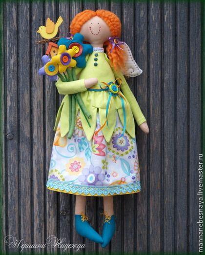 Коллекционные куклы ручной работы. Ярмарка Мастеров - ручная работа Весенняя девочка-ангел по имени Мелодия. Мелодия весны.. Handmade.