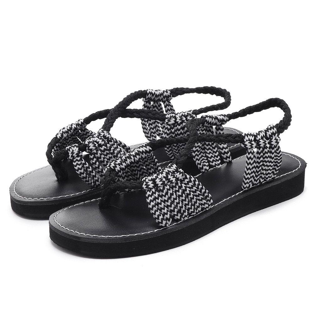 1c413242e159 Summer Beach Braided Strap Sandals for Women  women  shoes  trend  moda