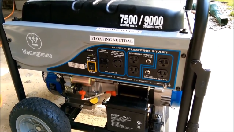 Westinghouse WH7500E Gas Powered Generator | I Love | Gas
