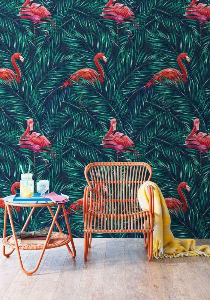 1001 mod les de papier peint tropical et exotique cuisine pinterest papier peint papier. Black Bedroom Furniture Sets. Home Design Ideas
