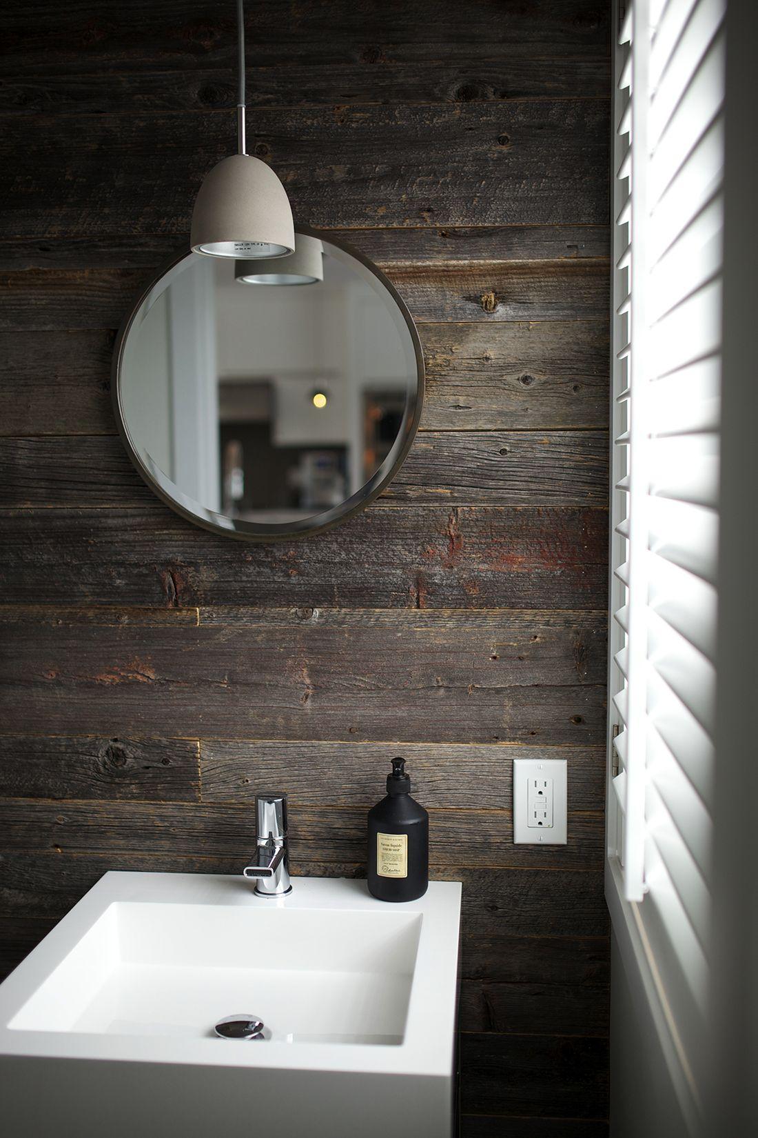 Salle D Eau Blanche Et Bois salle de bain | mur de bois | deco salle de bain, salle de