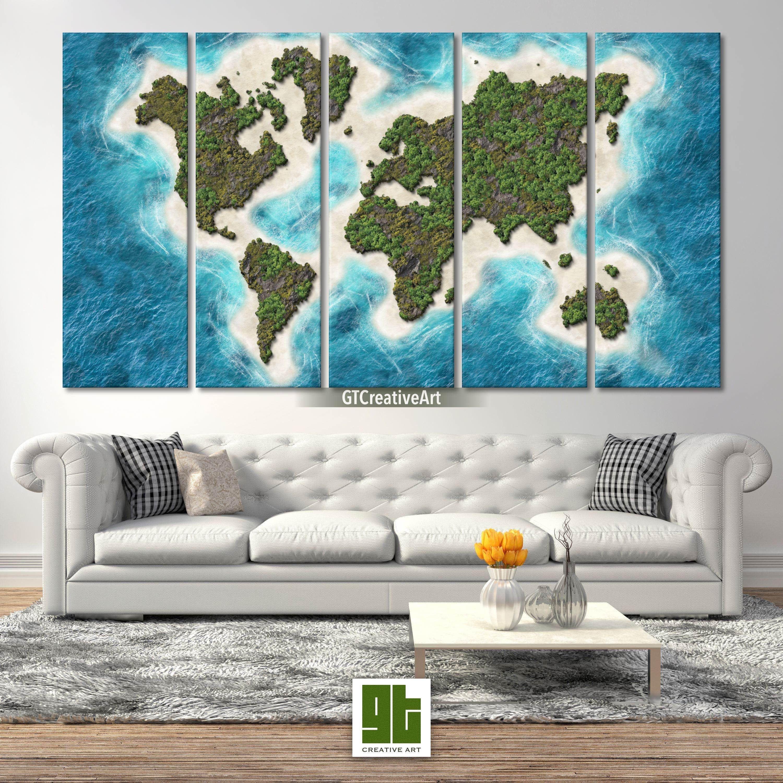 Globe Wall Art Creative Map World Map Artwork World Map Etsy World Map Canvas Map Artwork Map Canvas