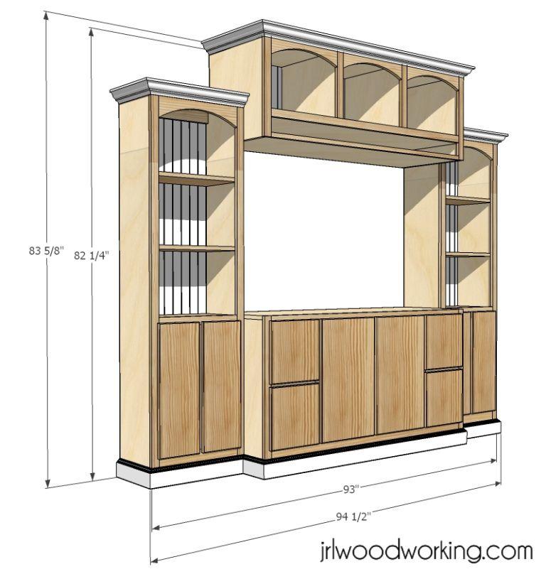 Delightful Entertainment Center Building Plans Free Part - 6: JRL Woodworking | Free Furniture Plans And Woodworking Tips: Furniture Plans:  Custom Entertainment Center