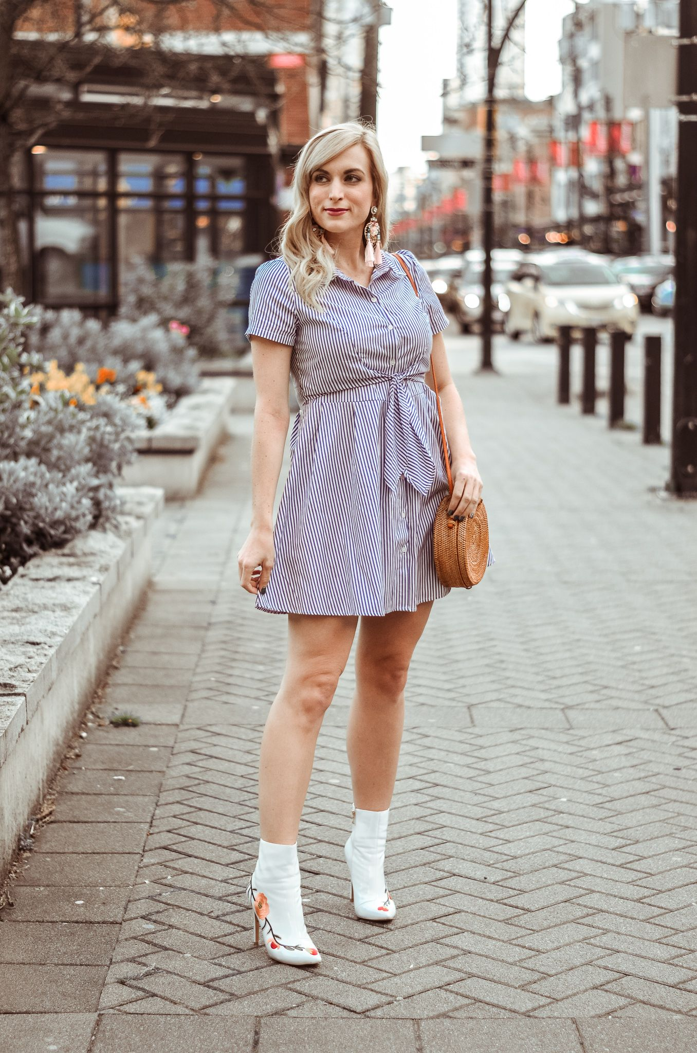 This Pinstripe Shirt Dress Is Right On Trend For Spring Summer And Is Super Affordable Nothing In This Spring Summer Dress Outfits Summer Outfits Fashion [ 2048 x 1356 Pixel ]