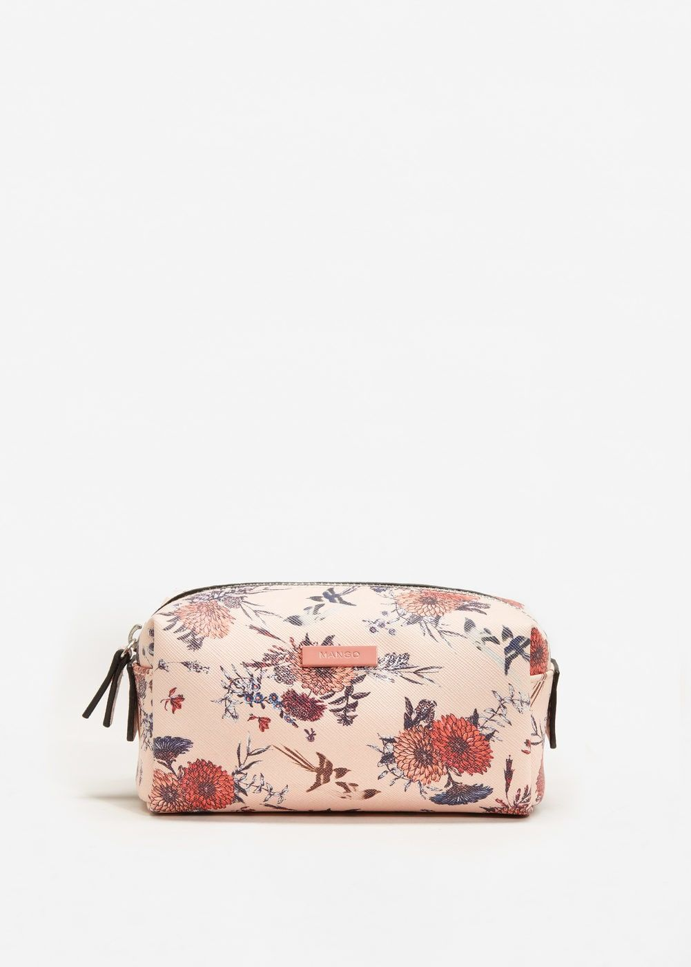 b7a41d5ce4bd4 Çiçekli safiano efektli kozmetik çantası - Cüzdan ve kozmetik ...