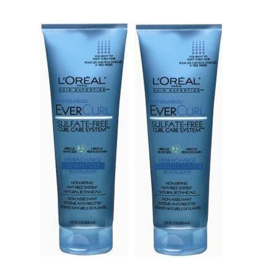 2 L Oreal Ever Curl Care System Shampoo Conditioner Sulfate Free Shipping Usa Lorealevercurl Loreal Loreal Paris Hair Shampoo