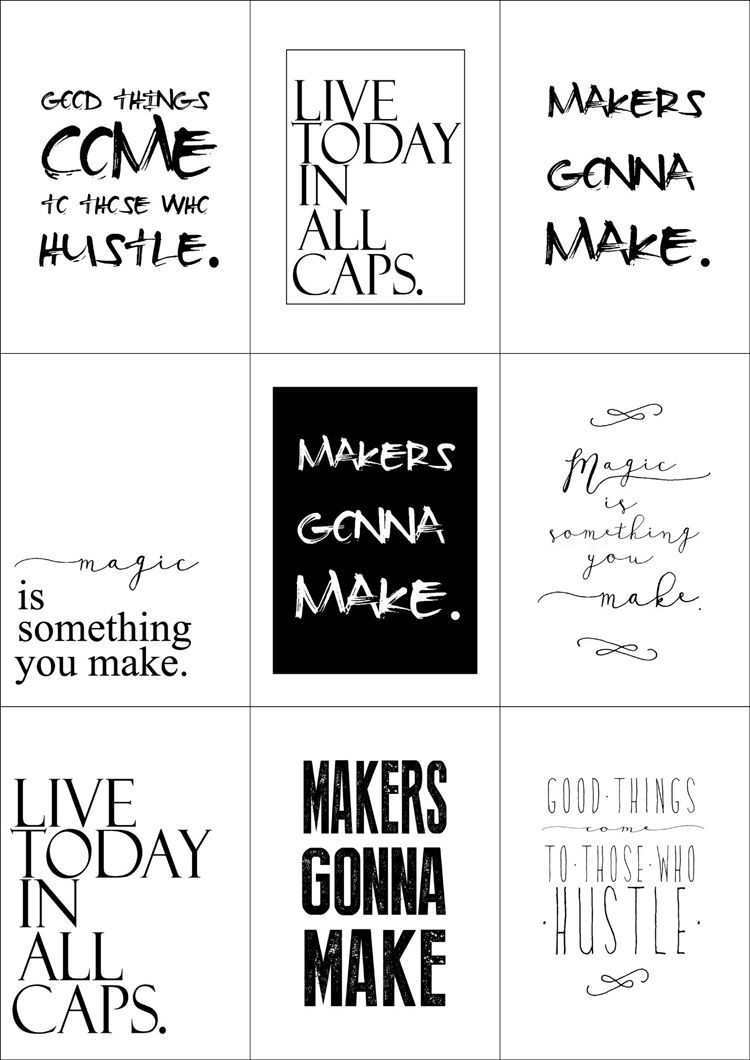 Free Printables Quotes Black And White