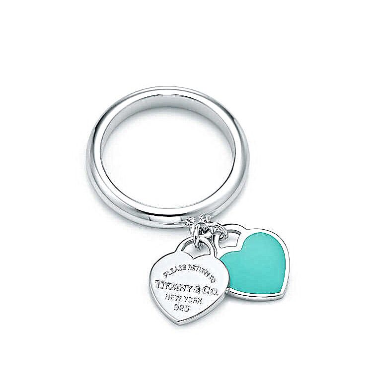 66d0cc725 Dangling Hearts Ring | Sterling Silver with Blue Enameling | Tiffany & Co.