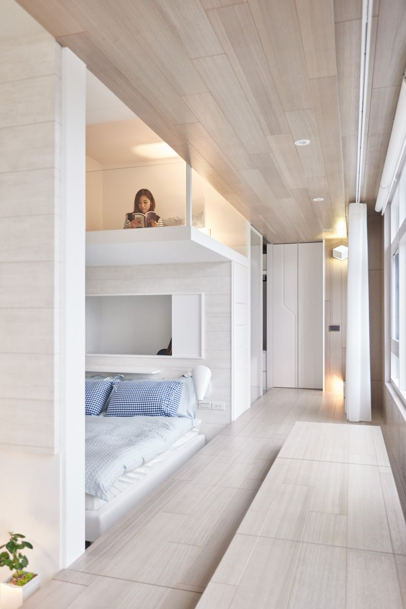 White and wood may be common enough when it comes to the soothing ...