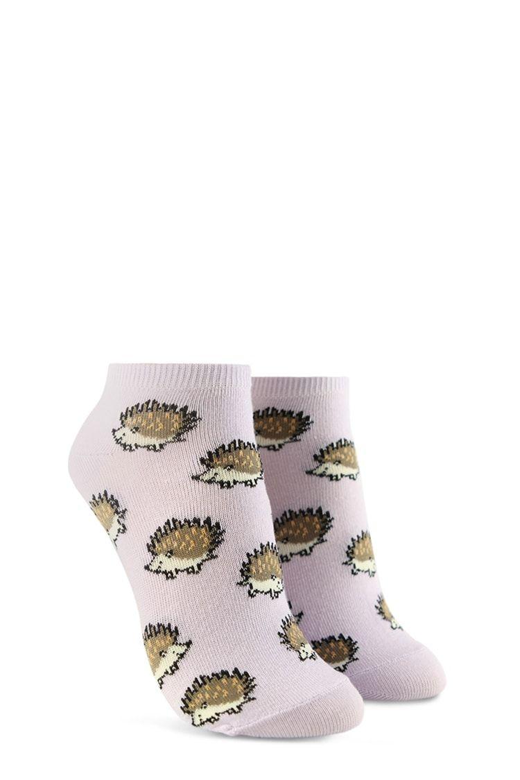 Fashion Women Girl Soft Cartoon Ankle Sock Printed Casual Sock Hedgehog