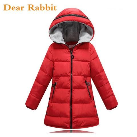 fdea3208 2017 new Girls Spring Autumn Winter Coat Cotton Padded Hooded Kids Winter  jacket for girls clothes