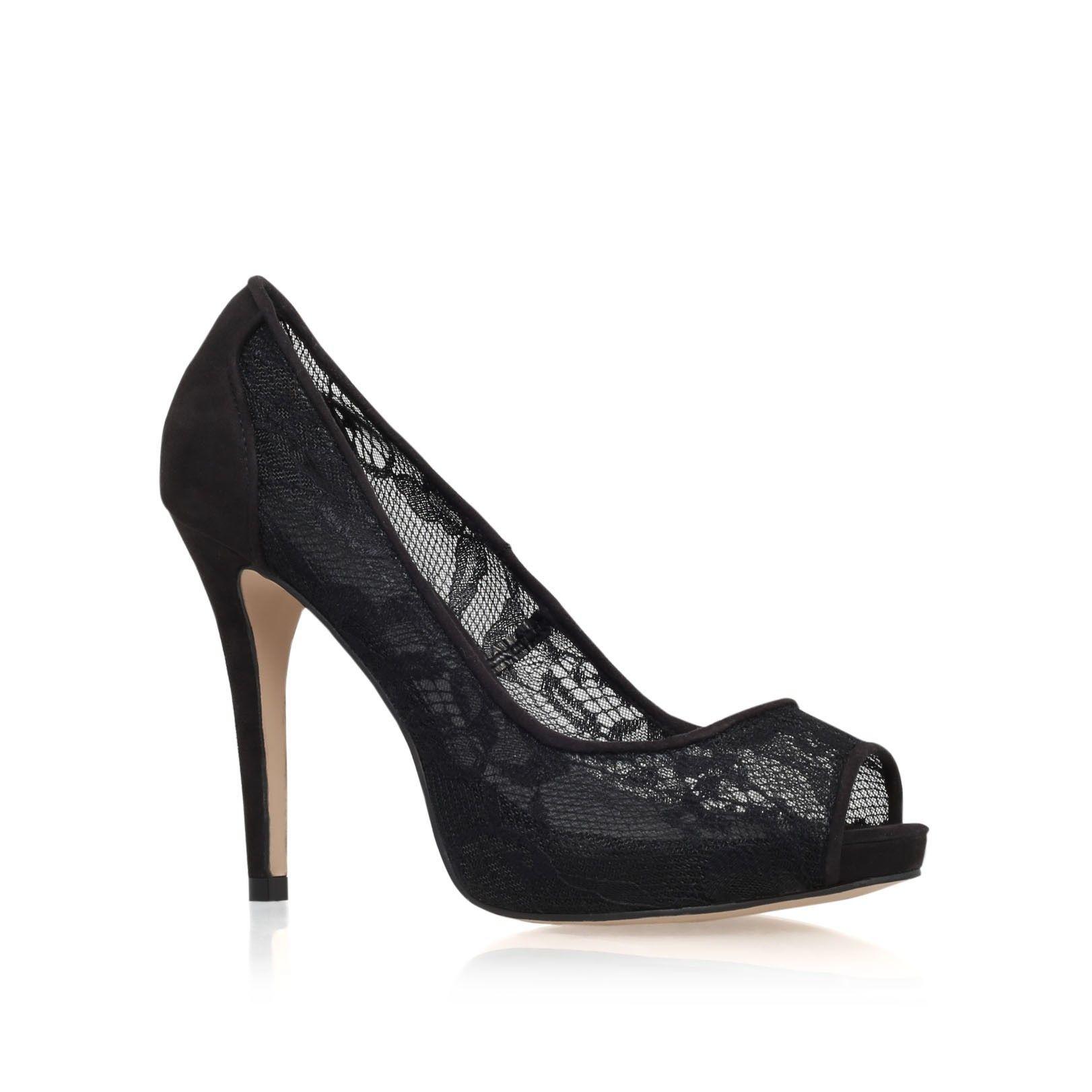 2f8eff4864 lara lace black high heel peep toe shoes from Carvela Kurt Geiger ...