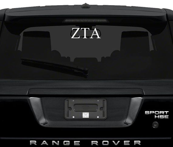 Zeta car decal zta yeti decal zeta tau alpha sticker