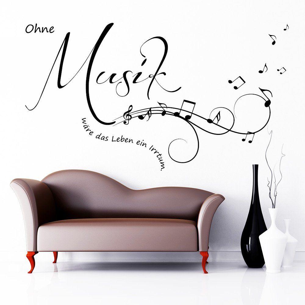 Wandtattoo Ohne Musik Ware Das Leben Ein Irrtum Schriftzug Zitat