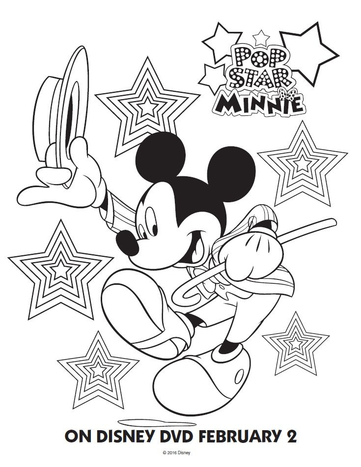 Pop Star Minnie Mouse Printable Coloring Pages Friends Mickey Mouse Coloring Pages Disney Coloring Pages Printables Minnie Mouse Coloring Pages