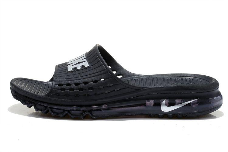 77220cda70fc7 2018 Nike Air Max Flip Flop For Men In Black White Sale Online ...