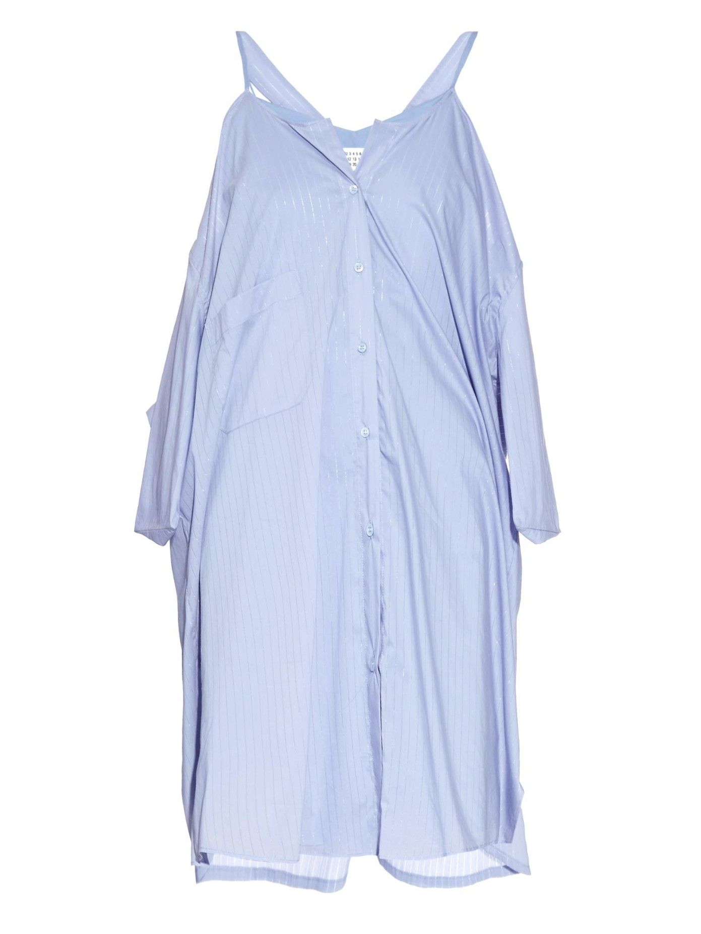 Wing-panel cotton-blend shirtdress | Maison Margiela | MATCHESFASHION.COM US
