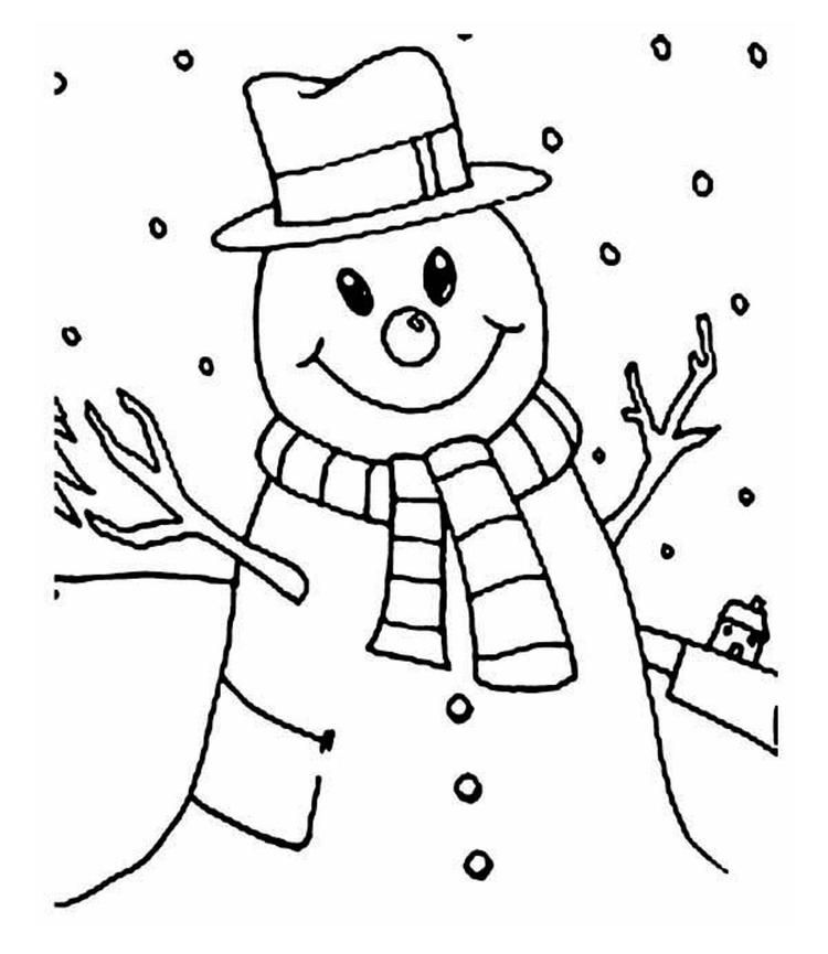 smiling snowman coloring pages  snowman coloring pages