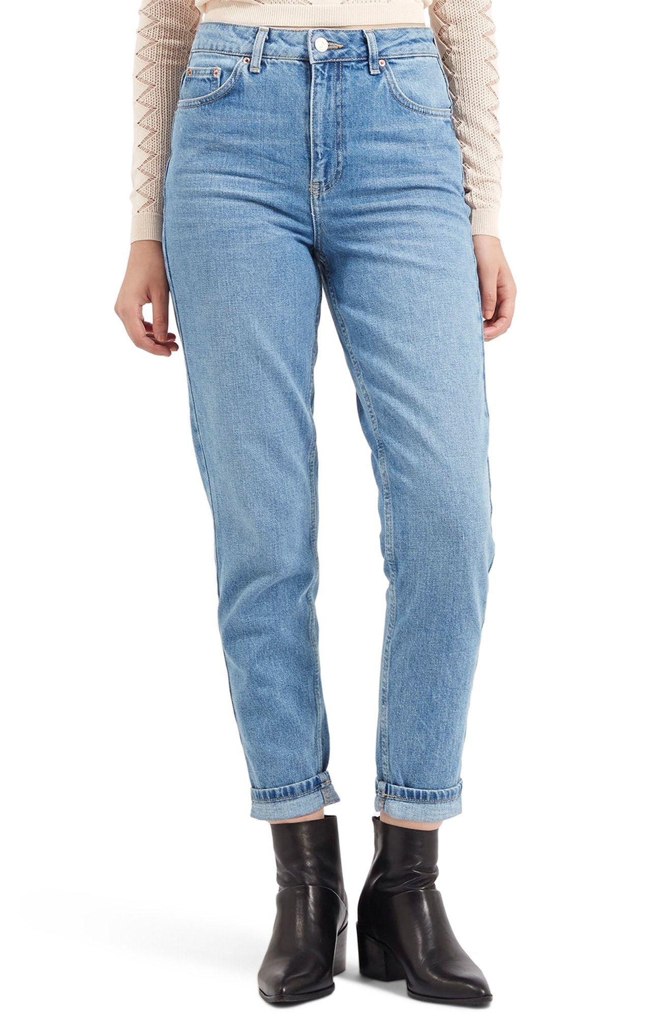 8dcd2e3e49 Topshop Light Denim Mom Jeans available at #Nordstrom | Clothes ...