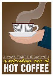 PLAKAT - hot coffee