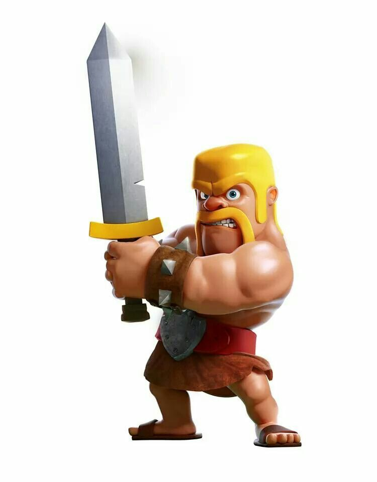 Clasj Of Clans Barbarian Arcade Video Games Clash