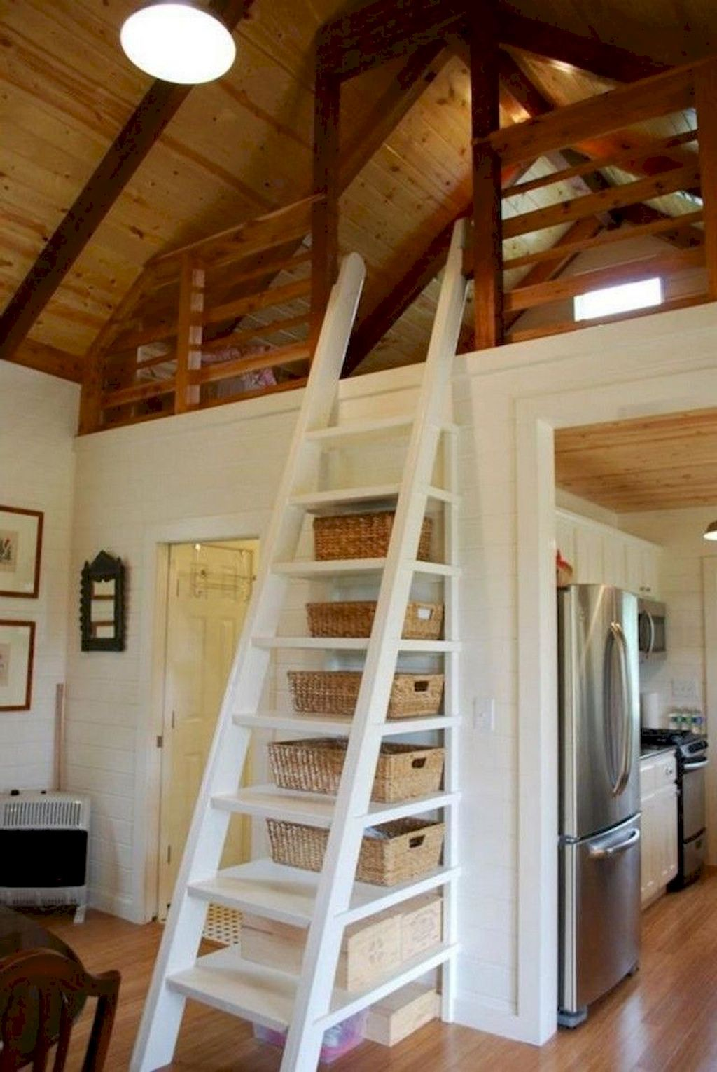 Adorable 80 Amazing Loft Stair For Tiny House Ideas Https Homespecially Com 80 Amazing Loft Stair For Tiny Hou Tiny House Loft Tiny House Stairs House Stairs