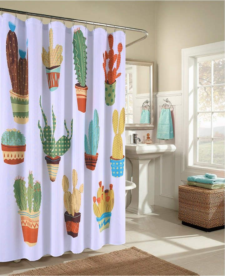 M Style 11 Happy Cacti Shower Curtain Reviews Shower Curtains