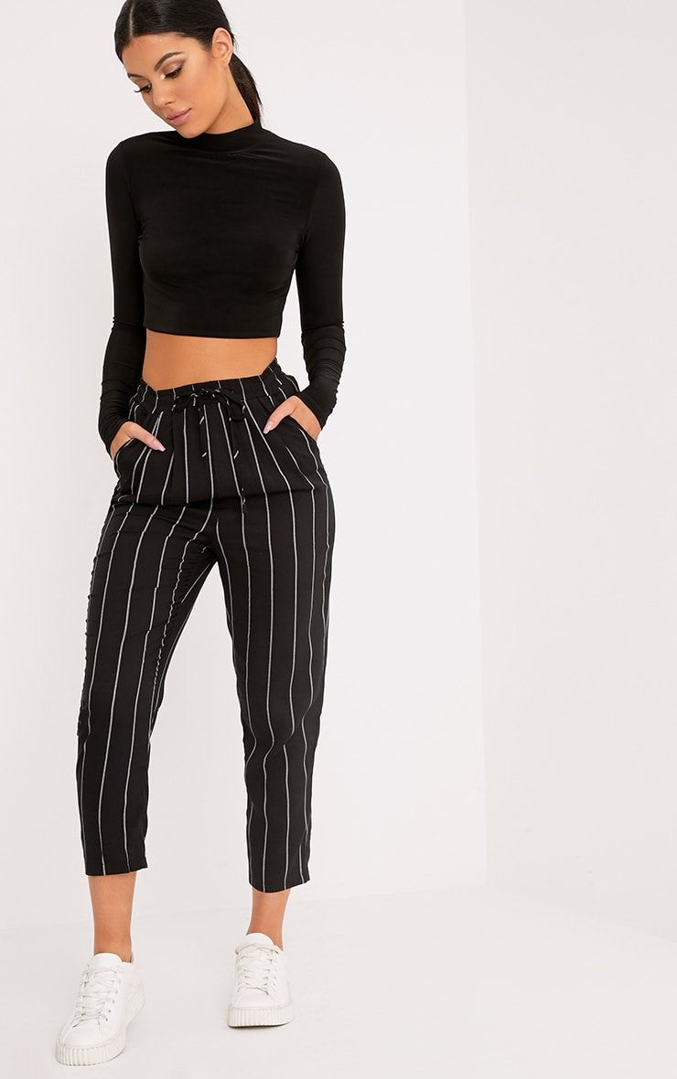 Black High Waisted Wide Leg Trousers | Fashion Style ...