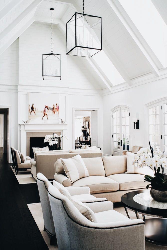 P I N T E R E S T Sarahesilvester Living Room Lighting Large Living Room Room Interior