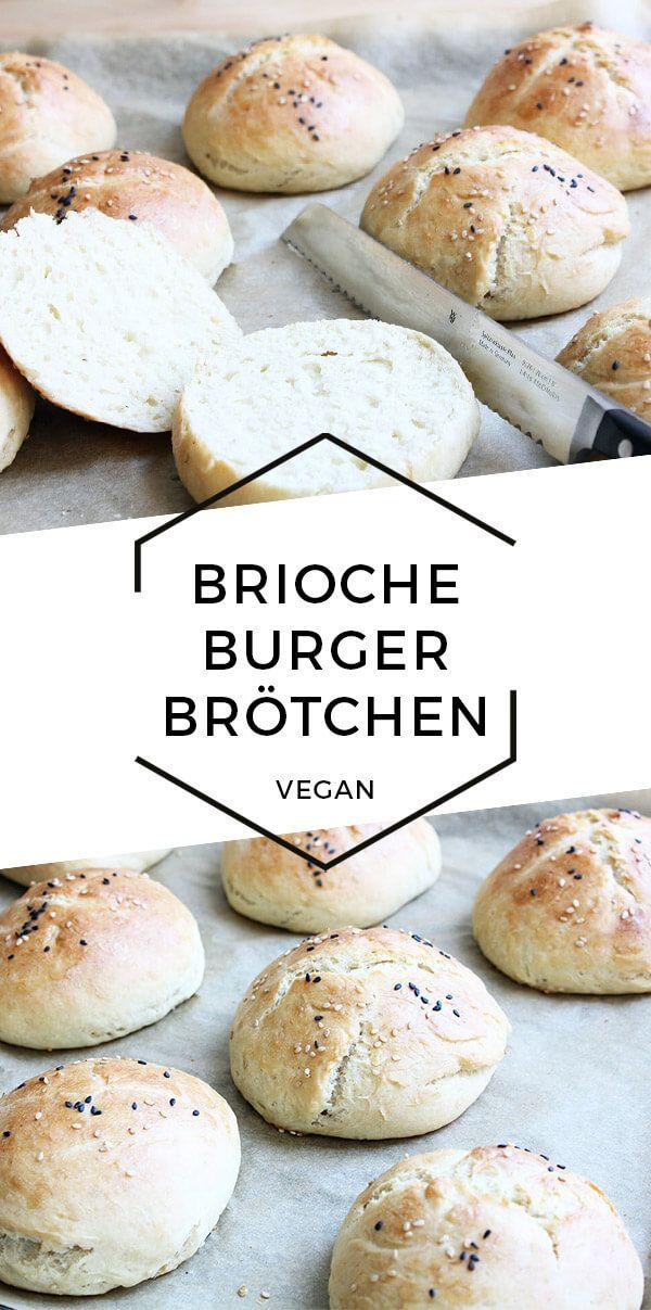 Vegane Brioche Burger Brötchen | Cheap And Cheerful Cooking