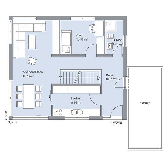 Temporäres Grün. Haus grundriss, Baumeister haus und Haus
