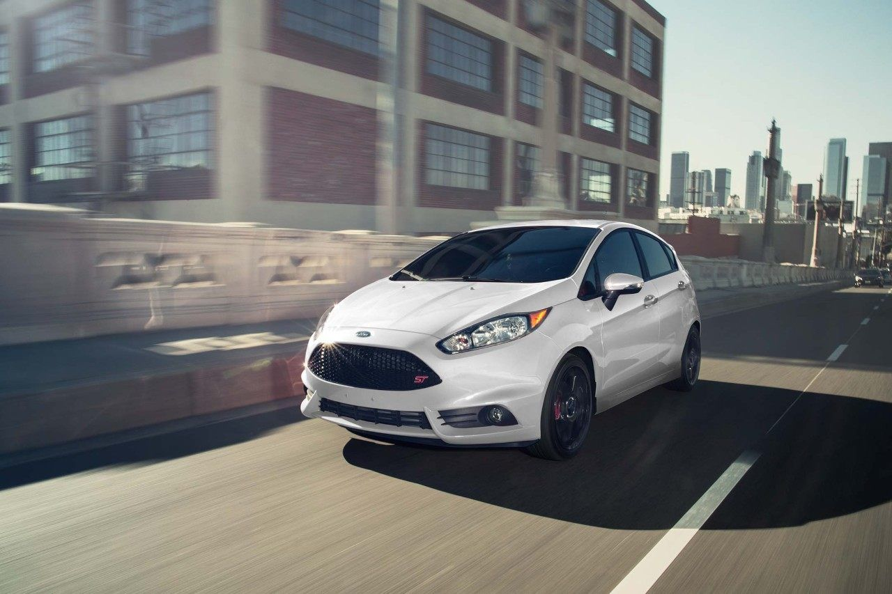 2018 Ford Fiesta St In White Platinum Metallic Tri Coat On The Road Ford Fiesta 2019 Ford Ford
