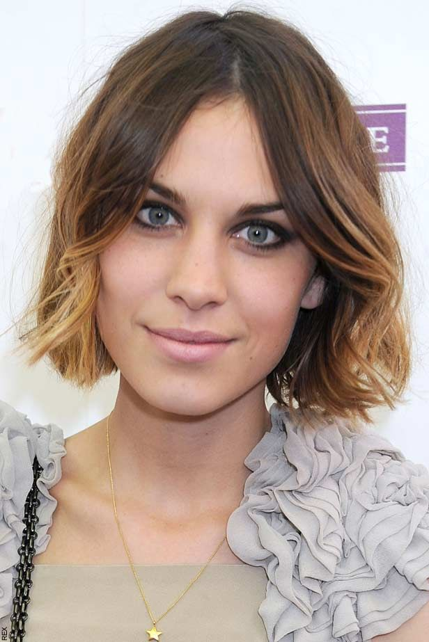 Balayage Alexa Chung Hair Short Ombre Hair Ombre Hair