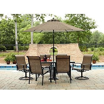 Garden Oasis Harrison 7 Piece Dining Set Furniture Patio Outdoor Table Chair  NEW