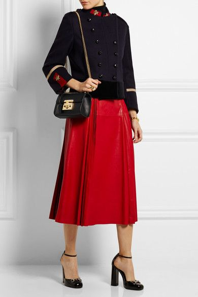 4c5be0b2ae3b Gucci   Padlock small leather shoulder bag   NET-A-PORTER.COM   Bag ...