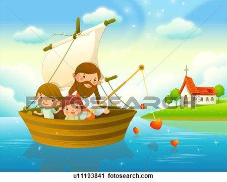 Com Cristo No Barco Tudo Vai Muito Bem Jesus Criancas Criancas