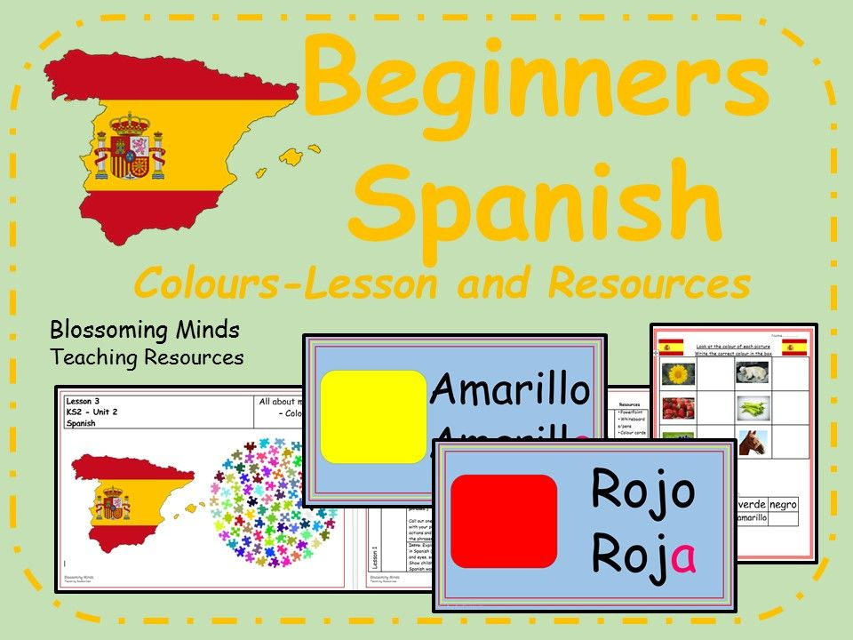Spanish lesson and resources Colours KS2 Spanish